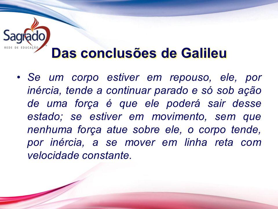 Das conclusões de Galileu