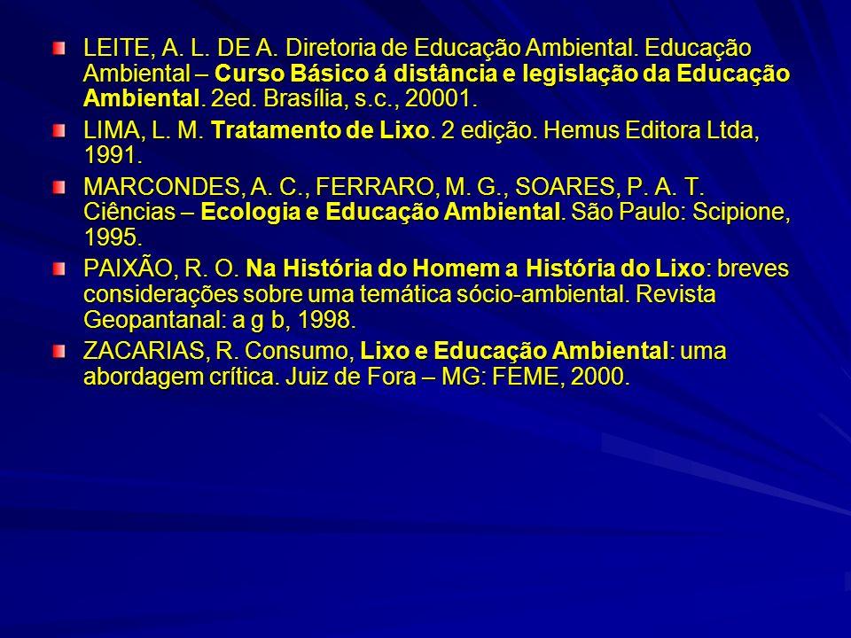LEITE, A. L. DE A. Diretoria de Educação Ambiental