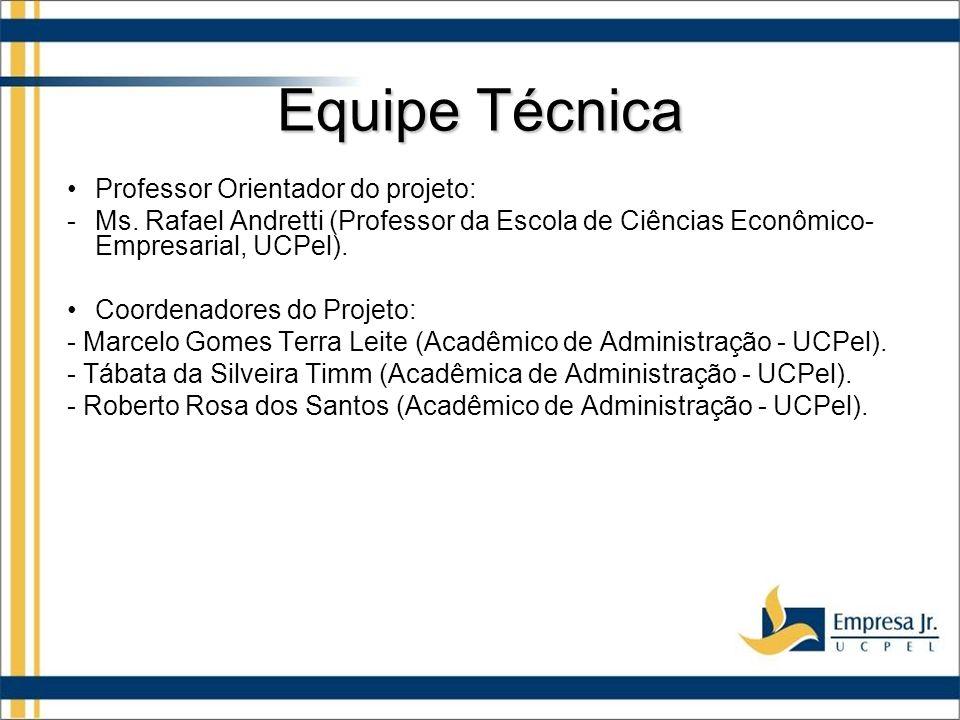 Equipe Técnica Professor Orientador do projeto: