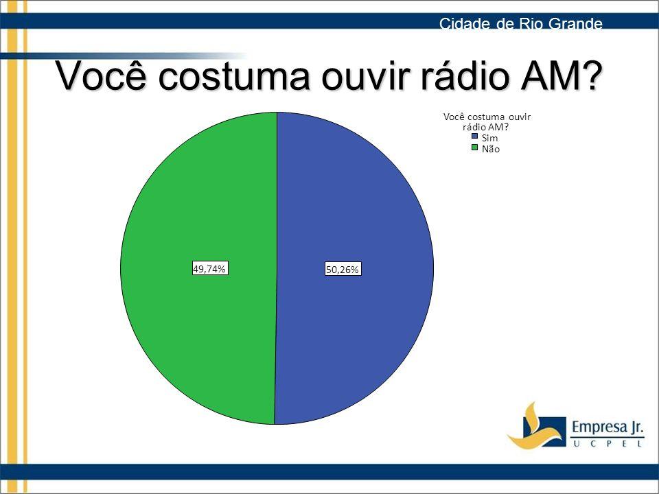 Você costuma ouvir rádio AM