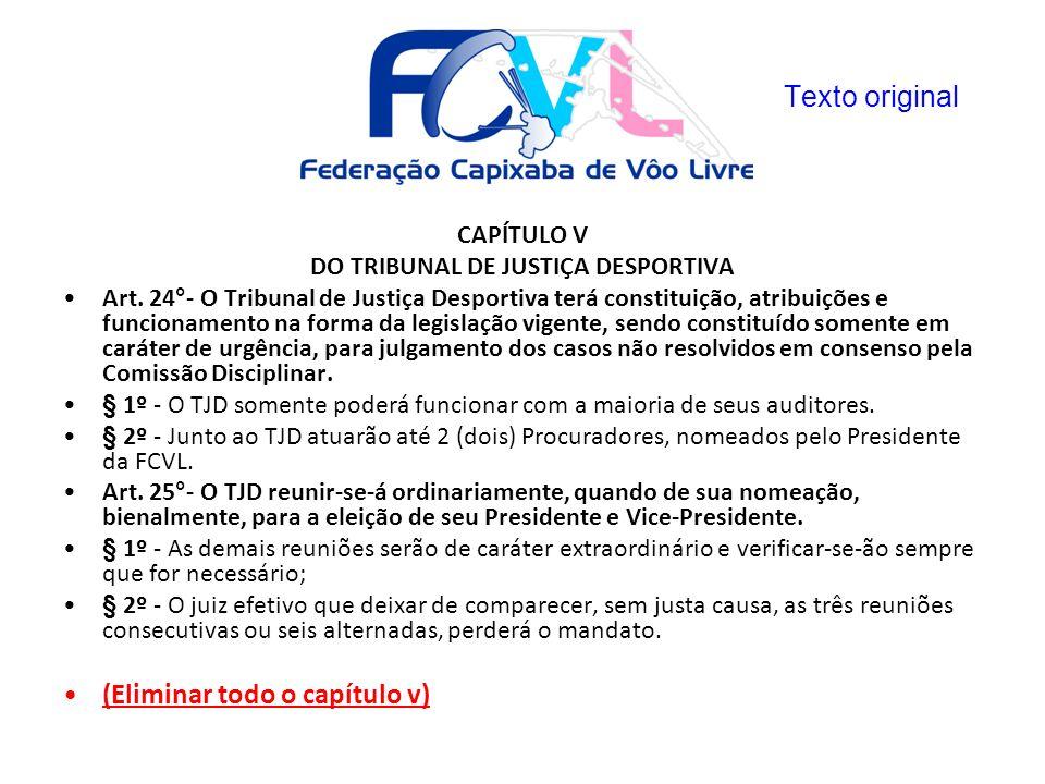 DO TRIBUNAL DE JUSTIÇA DESPORTIVA