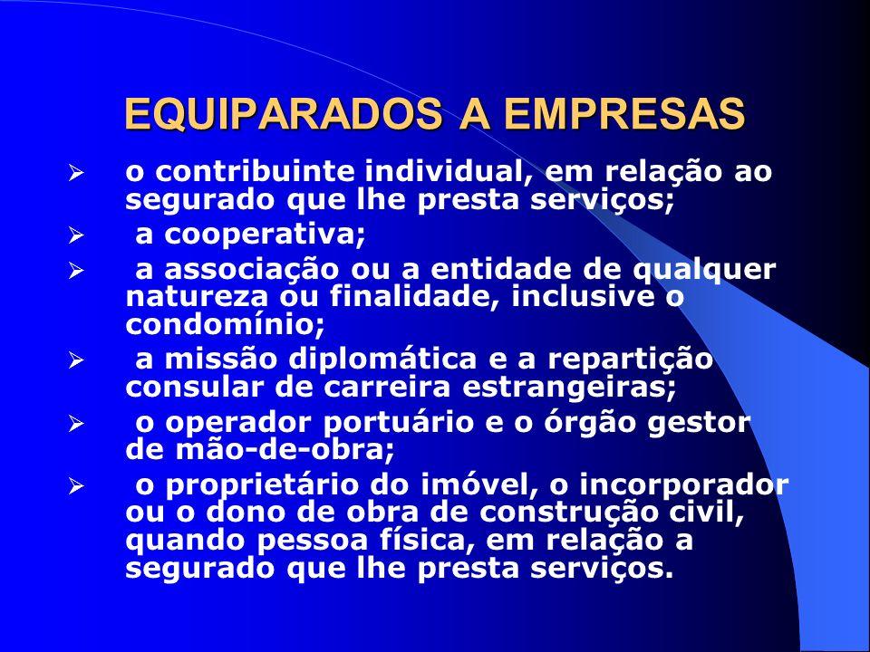 EQUIPARADOS A EMPRESAS