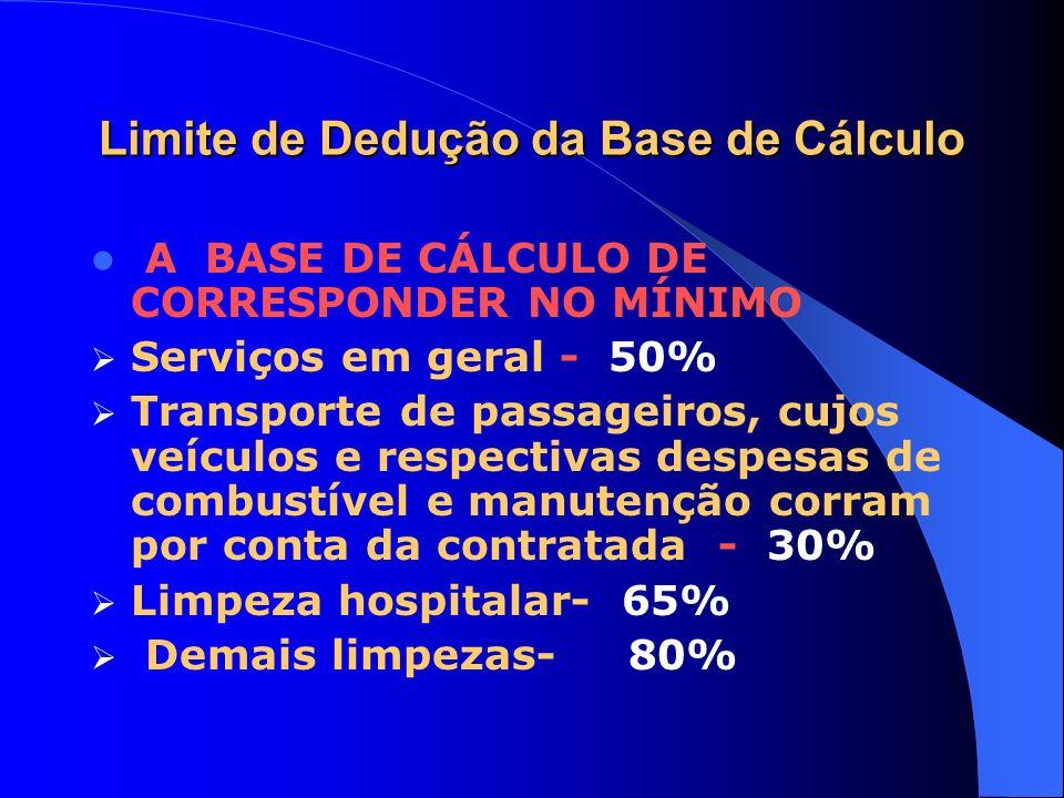 Limite de Dedução da Base de Cálculo