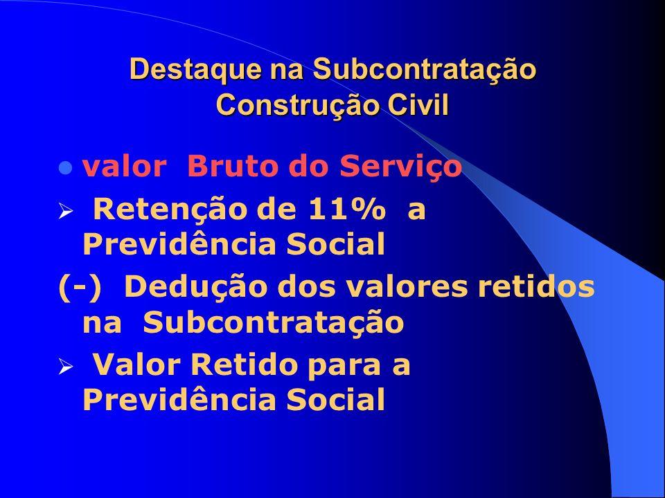 Destaque na Subcontratação Construção Civil