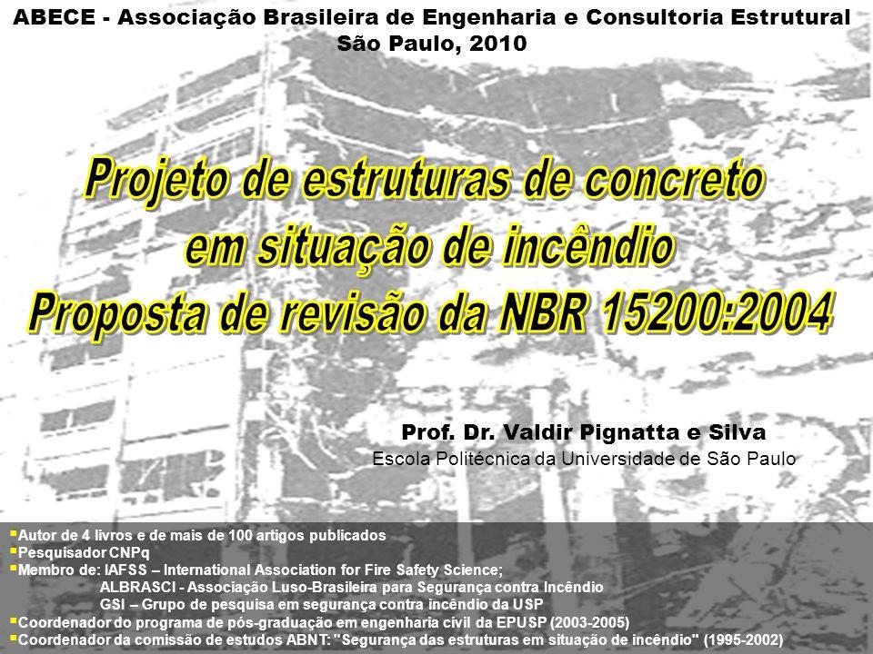 Projeto de estruturas de concreto em situação de incêndio