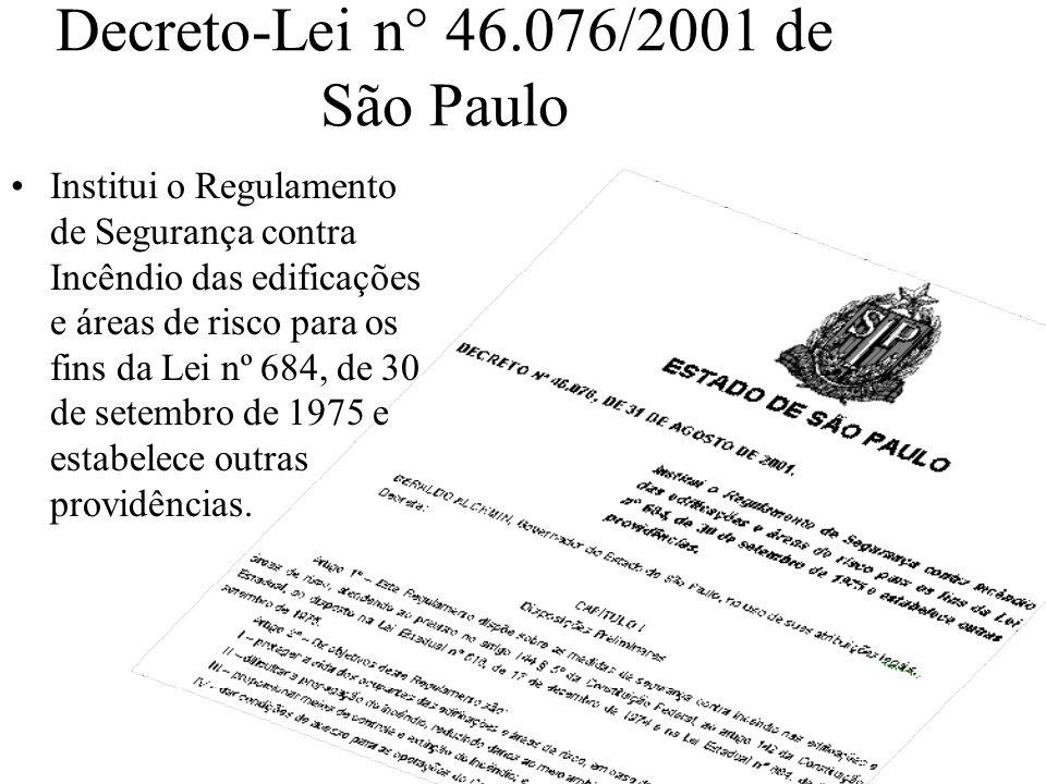 Decreto-Lei n° 46.076/2001 de São Paulo