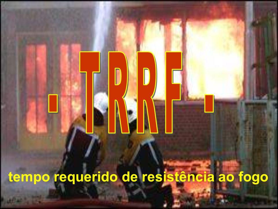- TRRF - tempo requerido de resistência ao fogo
