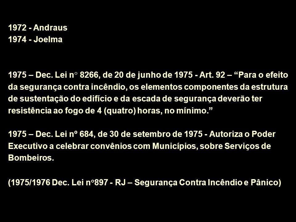1972 - Andraus 1974 - Joelma.