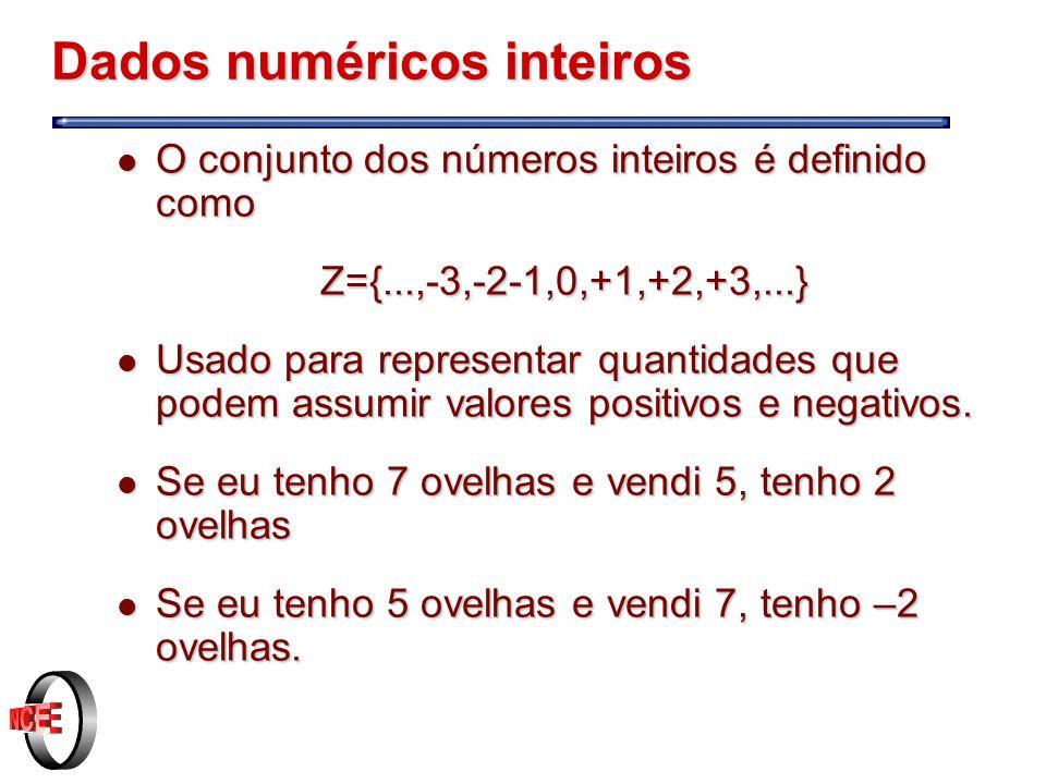 Dados numéricos inteiros
