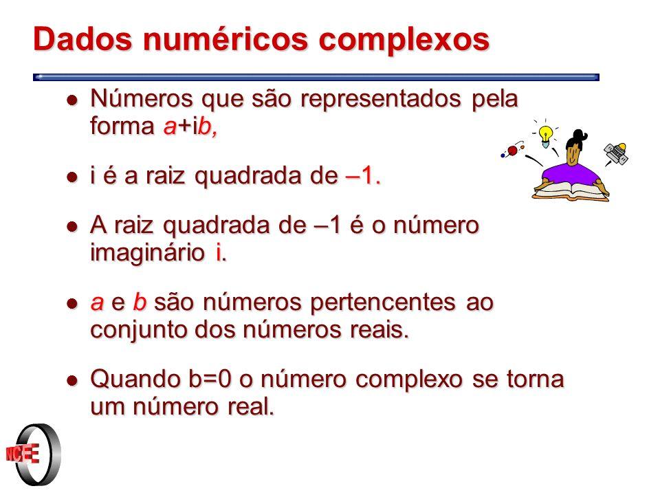Dados numéricos complexos