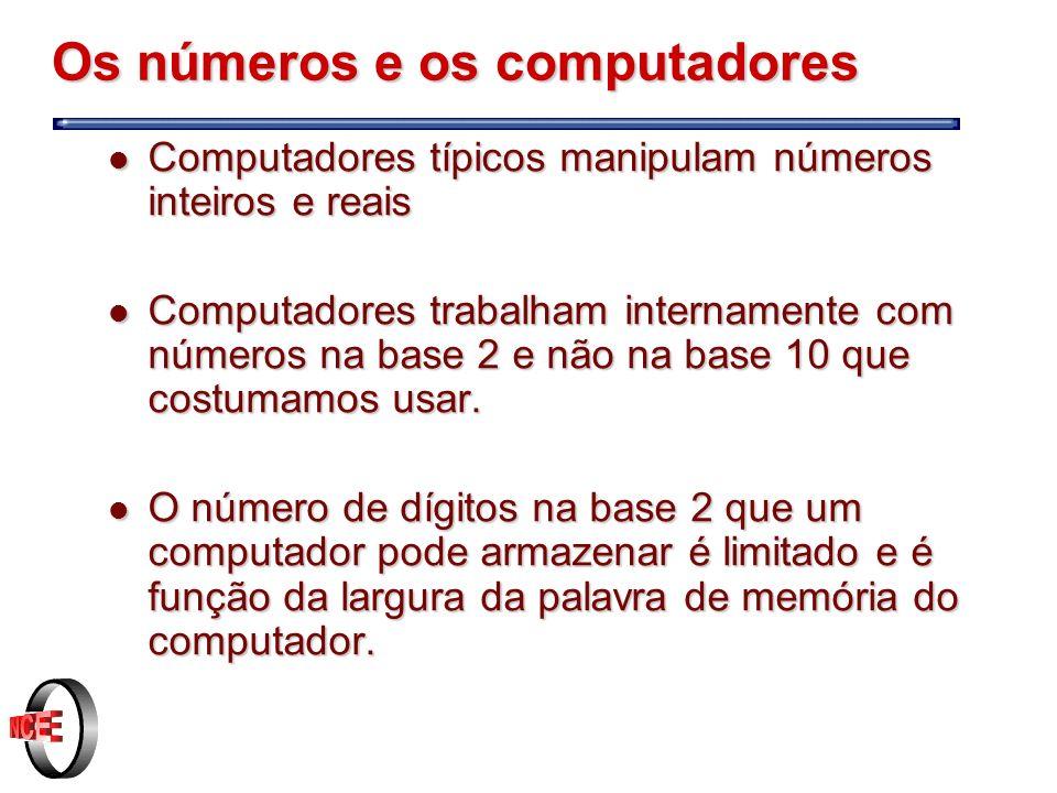 Os números e os computadores