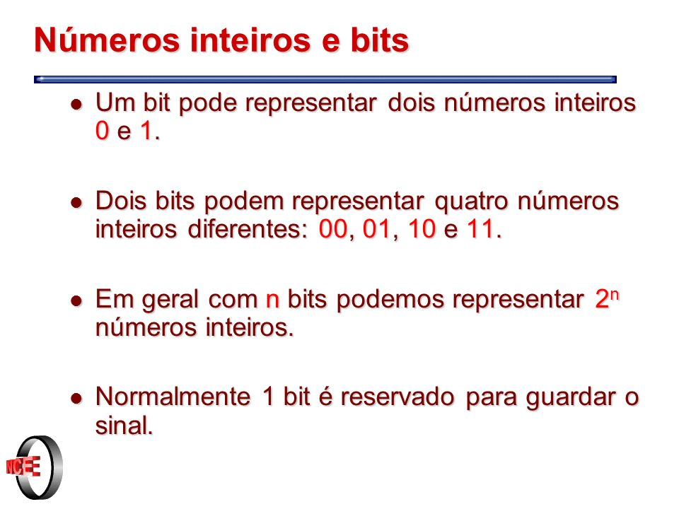 Números inteiros e bits