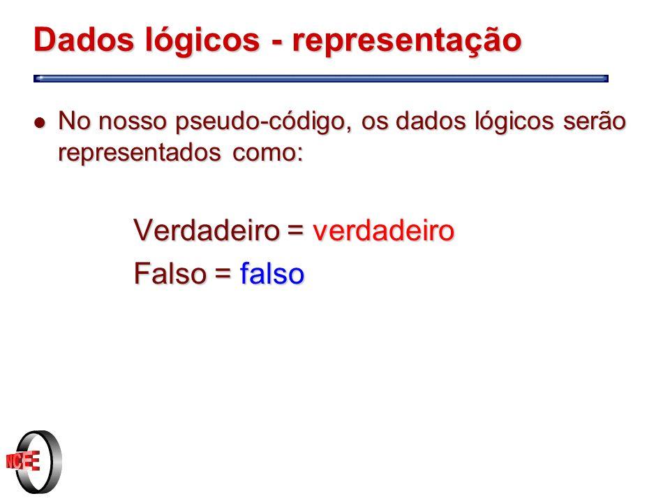 Dados lógicos - representação