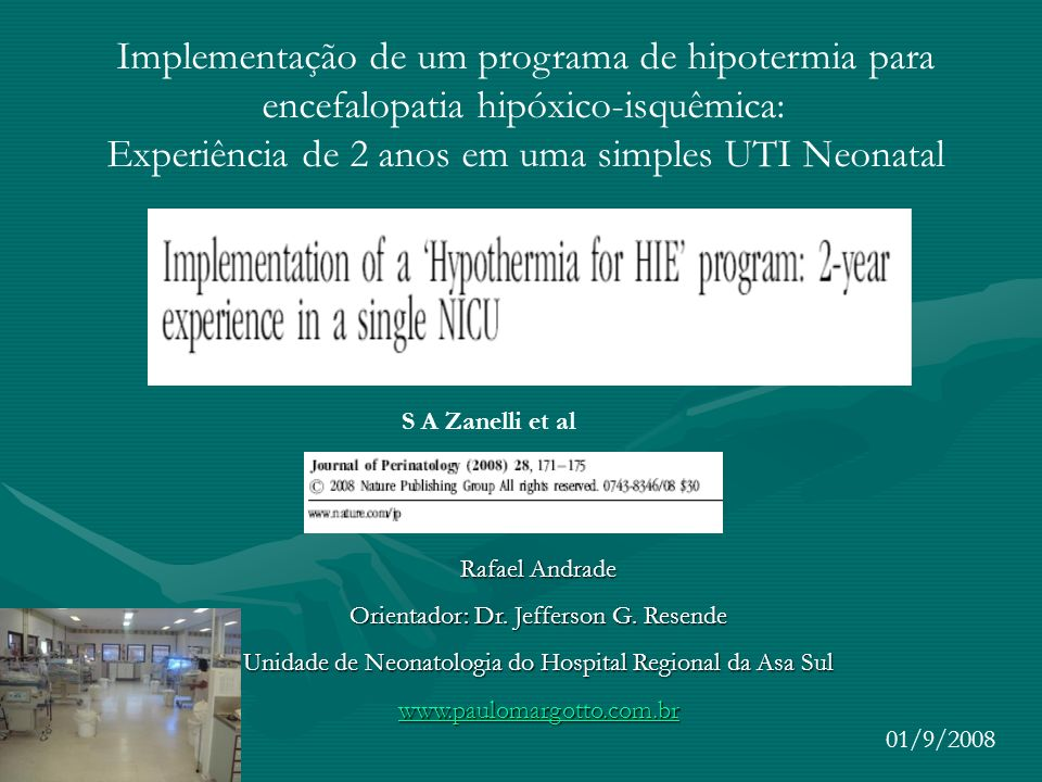 Implementação de um programa de hipotermia para
