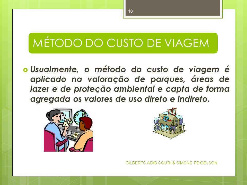 MÉTODO DO CUSTO DE VIAGEM