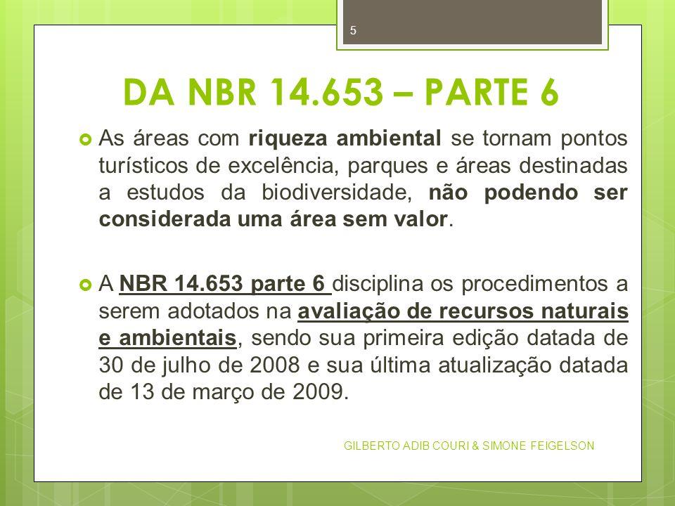 DA NBR 14.653 – PARTE 6