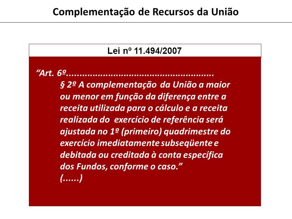 Complementação de Recursos da União