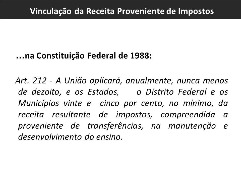 ...na Constituição Federal de 1988: