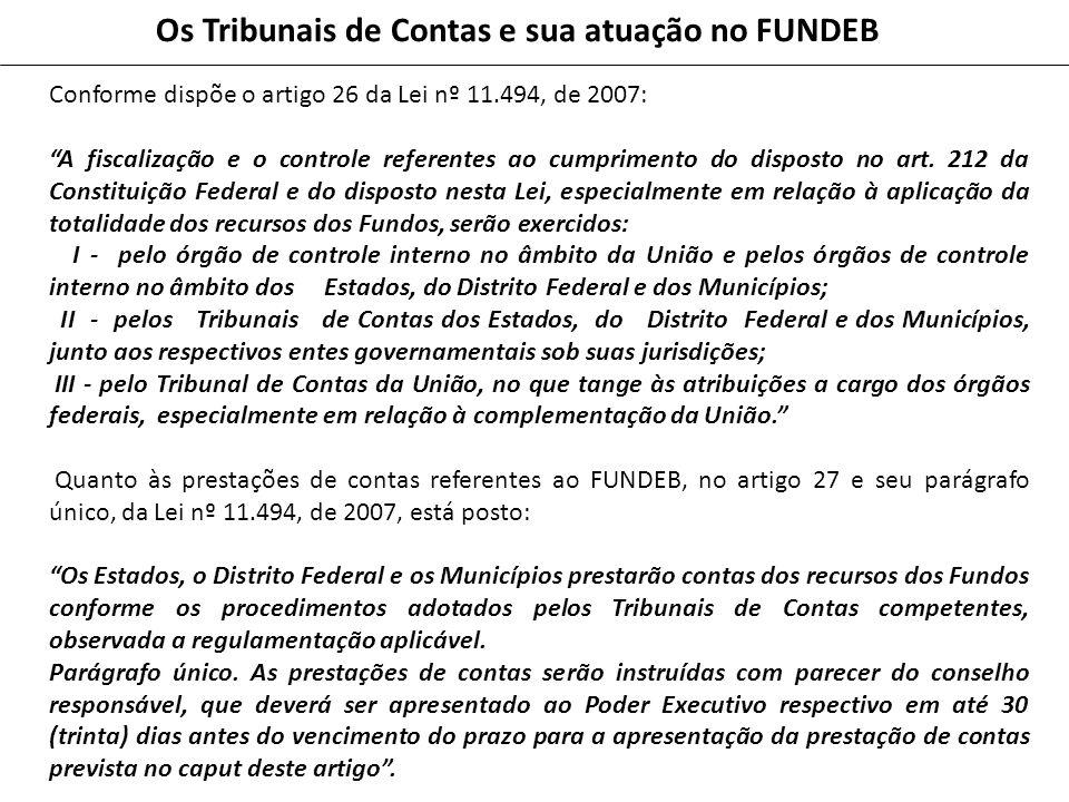 Os Tribunais de Contas e sua atuação no FUNDEB