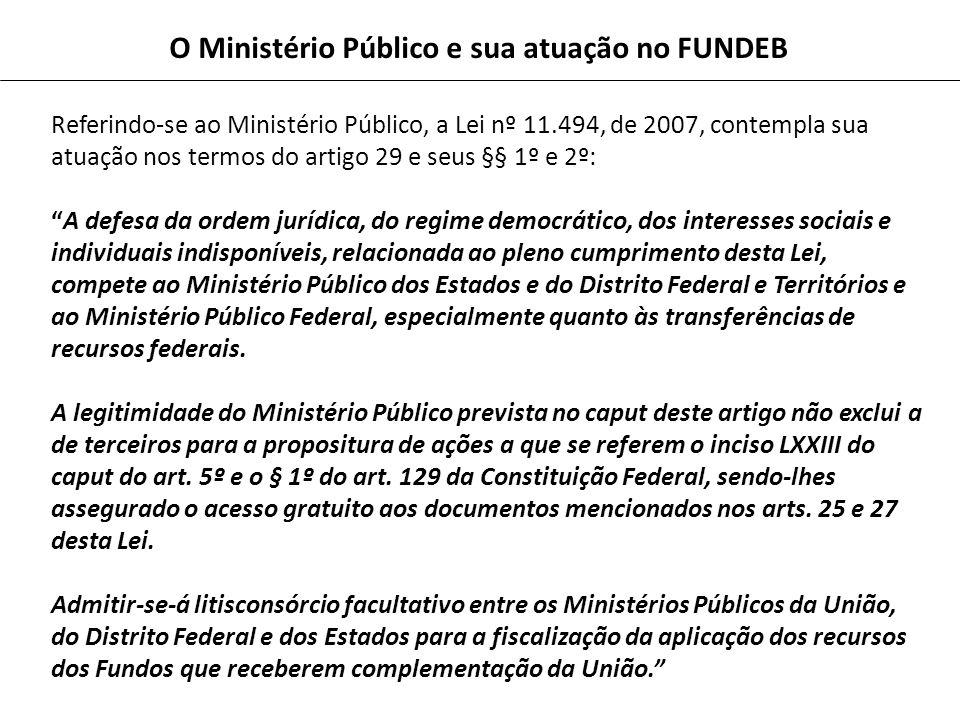 O Ministério Público e sua atuação no FUNDEB