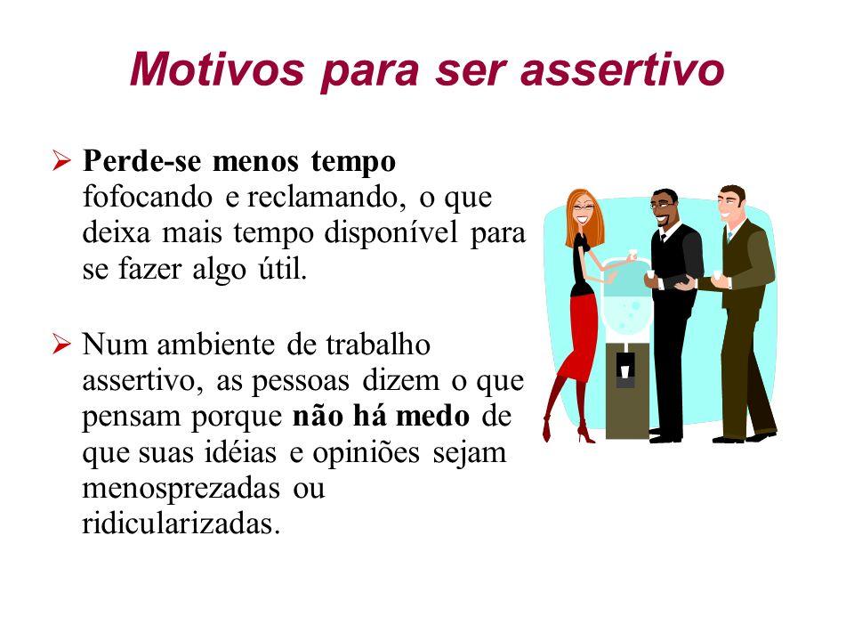 Motivos para ser assertivo