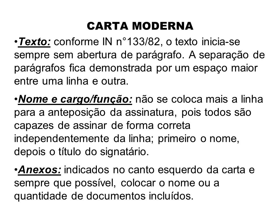 CARTA MODERNA