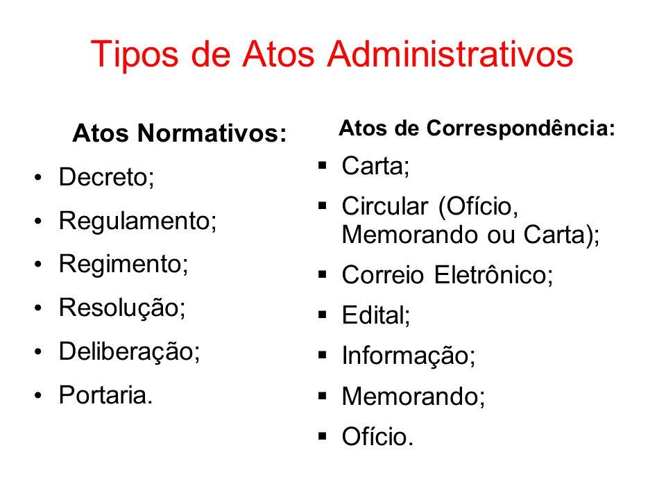 Tipos de Atos Administrativos
