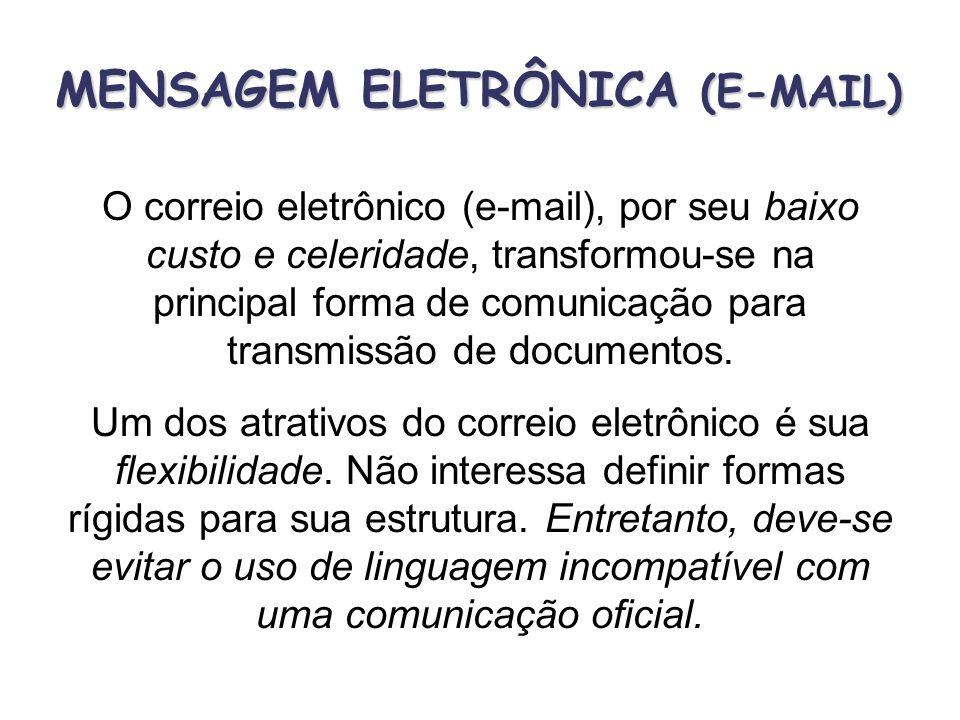 MENSAGEM ELETRÔNICA (E-MAIL)