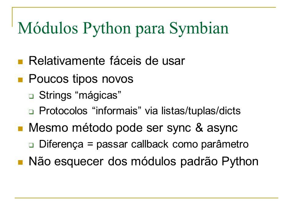 Módulos Python para Symbian
