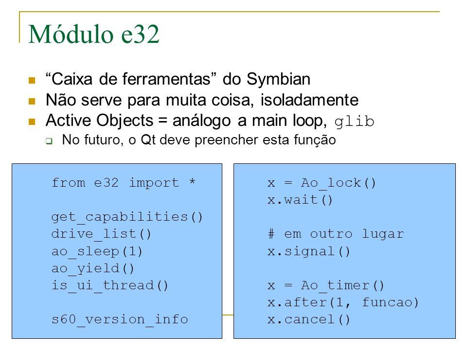 Módulo e32 Caixa de ferramentas do Symbian