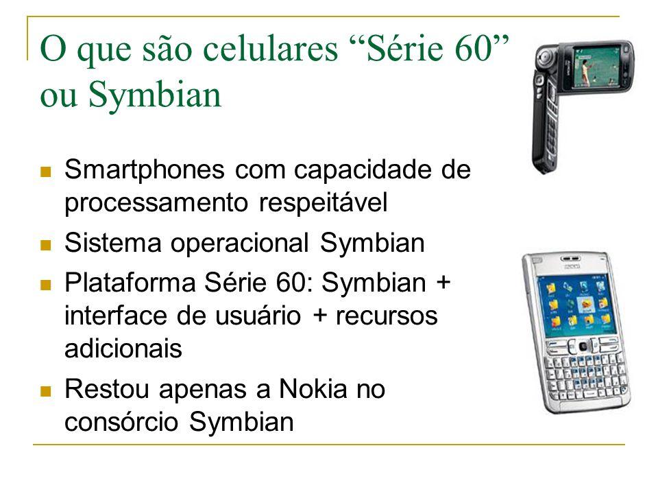 O que são celulares Série 60 ou Symbian