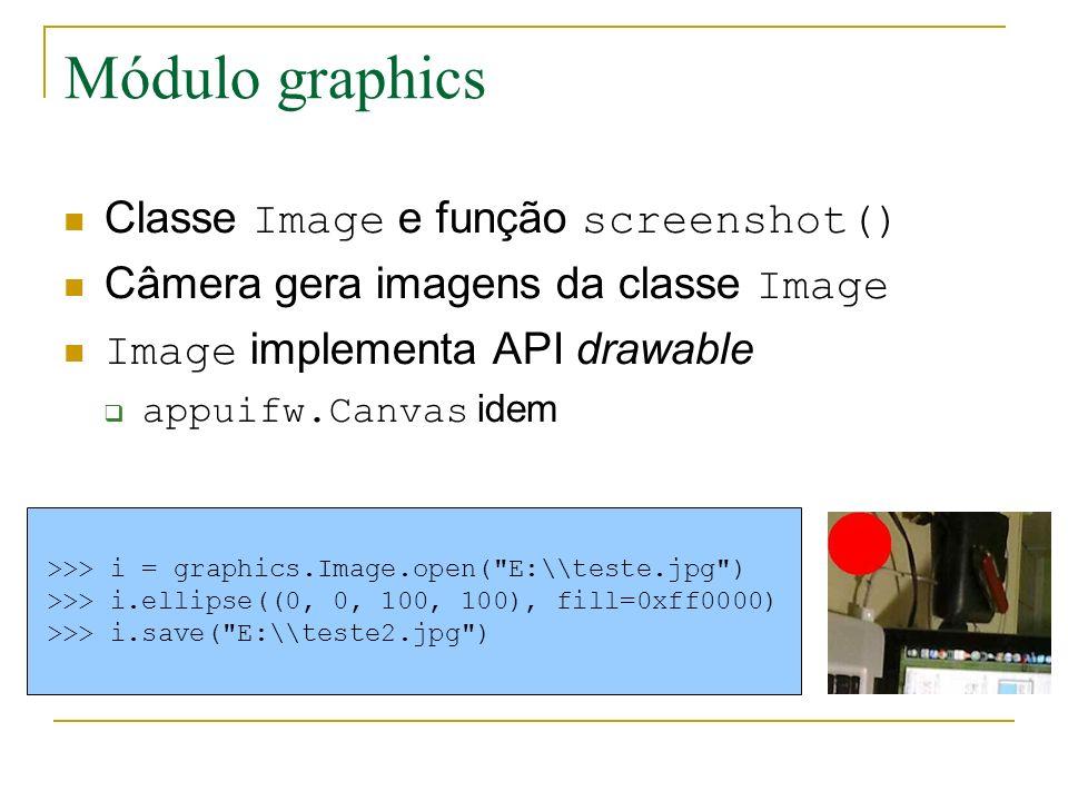 Módulo graphics Classe Image e função screenshot()