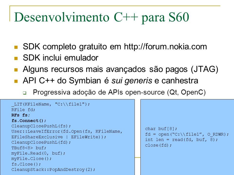 Desenvolvimento C++ para S60