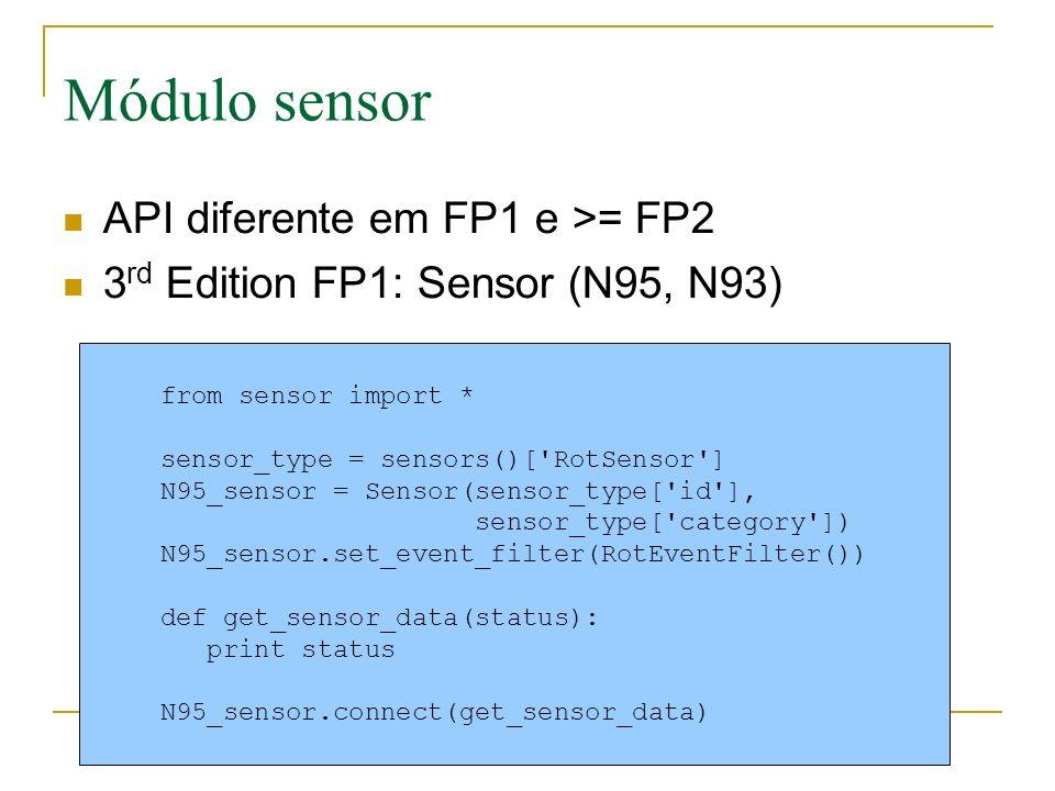 Módulo sensor API diferente em FP1 e >= FP2
