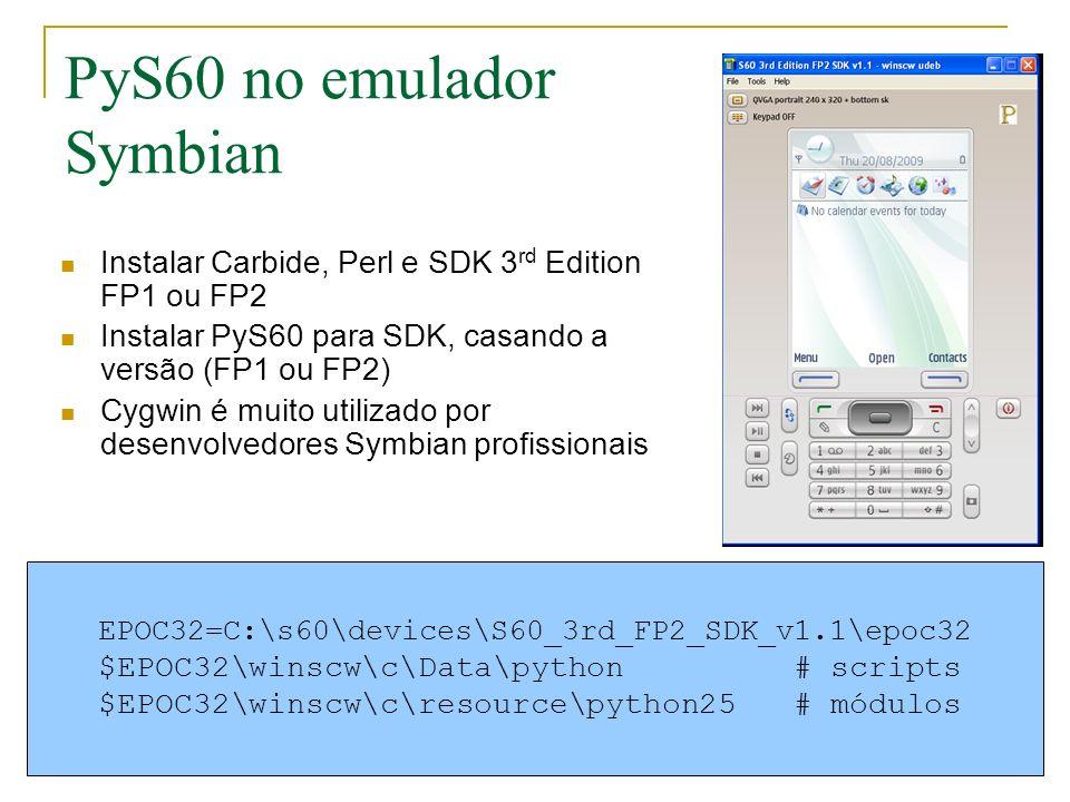PyS60 no emulador Symbian