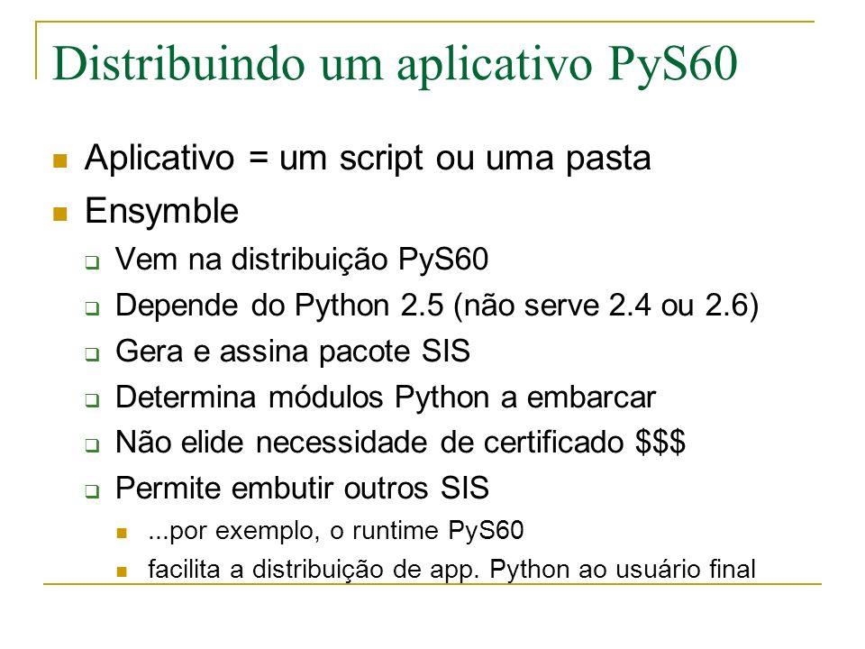 Distribuindo um aplicativo PyS60