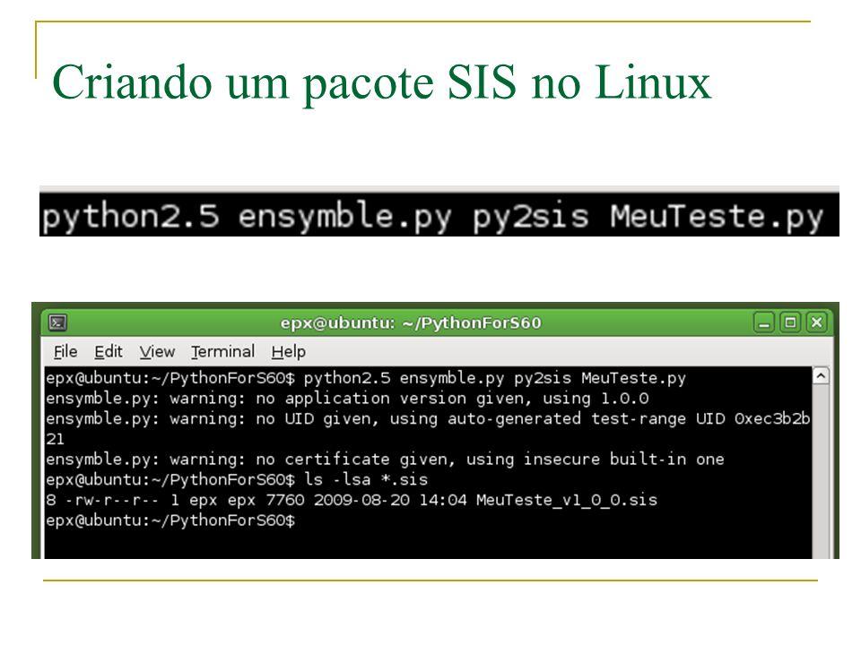 Criando um pacote SIS no Linux