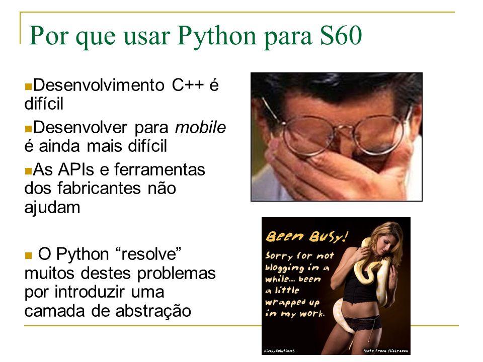 Por que usar Python para S60