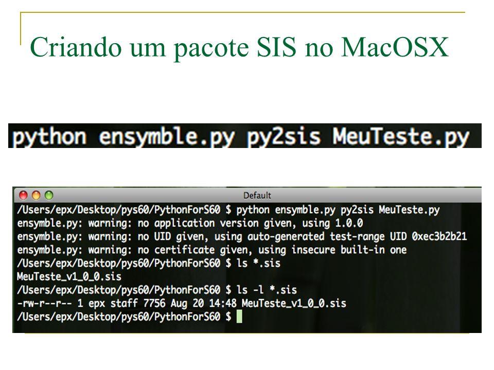 Criando um pacote SIS no MacOSX