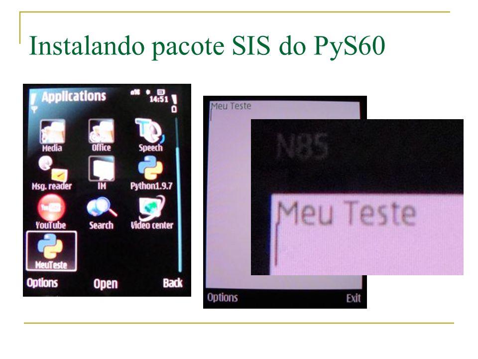 Instalando pacote SIS do PyS60