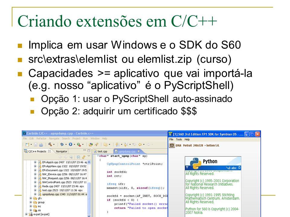 Criando extensões em C/C++