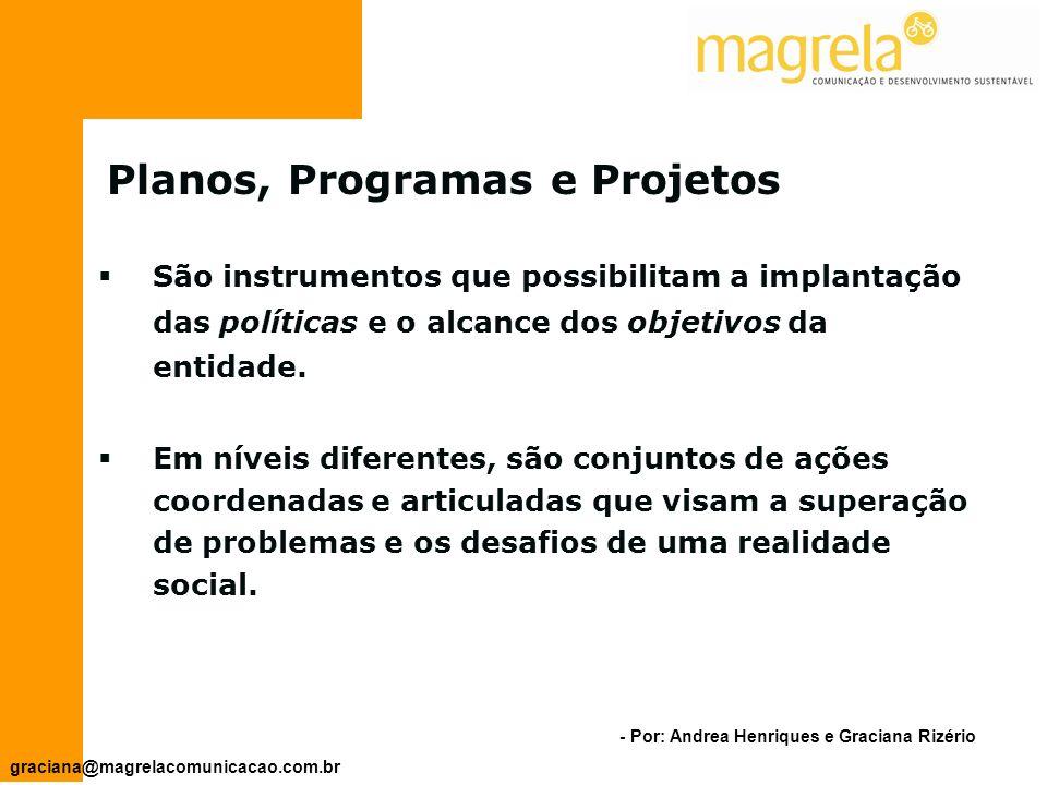 Planos, Programas e Projetos