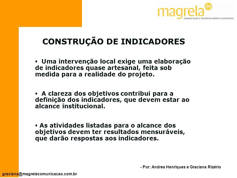CONSTRUÇÃO DE INDICADORES