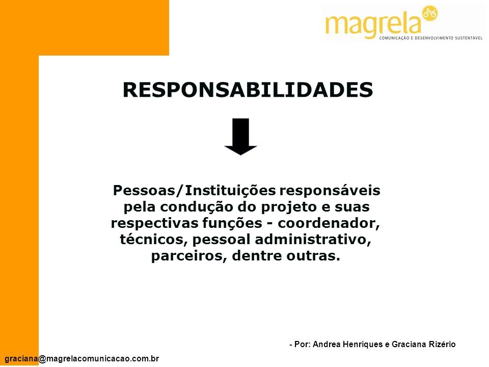 Pessoas/Instituições responsáveis