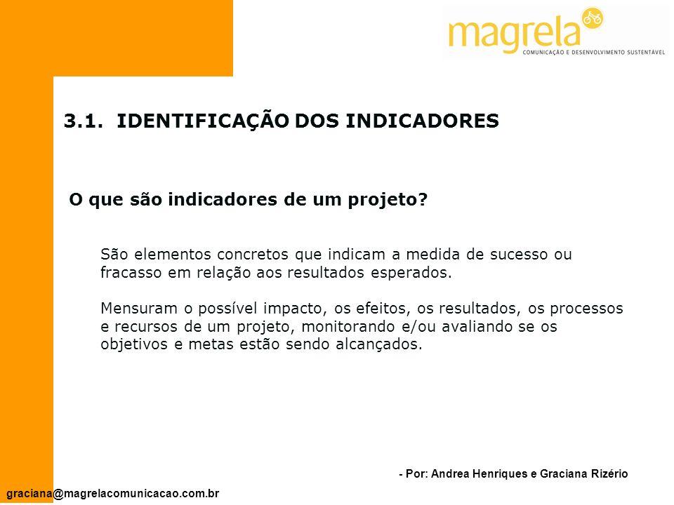 3.1. IDENTIFICAÇÃO DOS INDICADORES