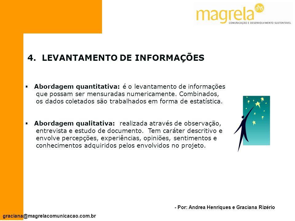 4. LEVANTAMENTO DE INFORMAÇÕES
