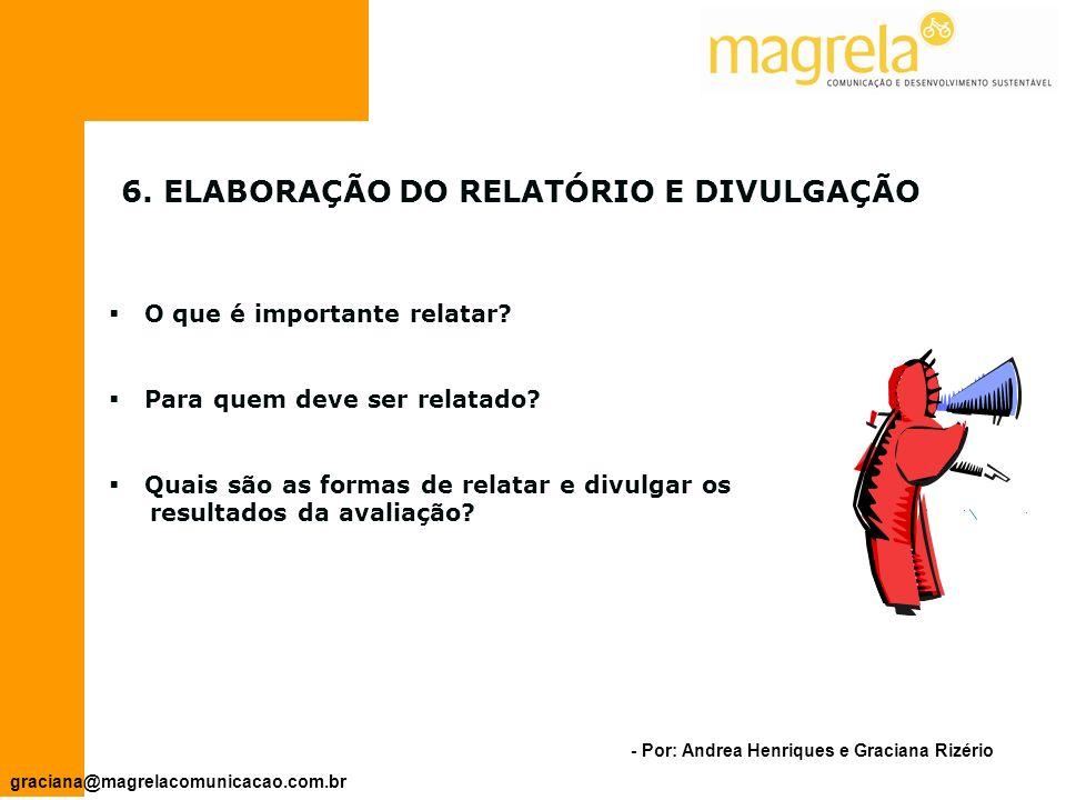 6. ELABORAÇÃO DO RELATÓRIO E DIVULGAÇÃO