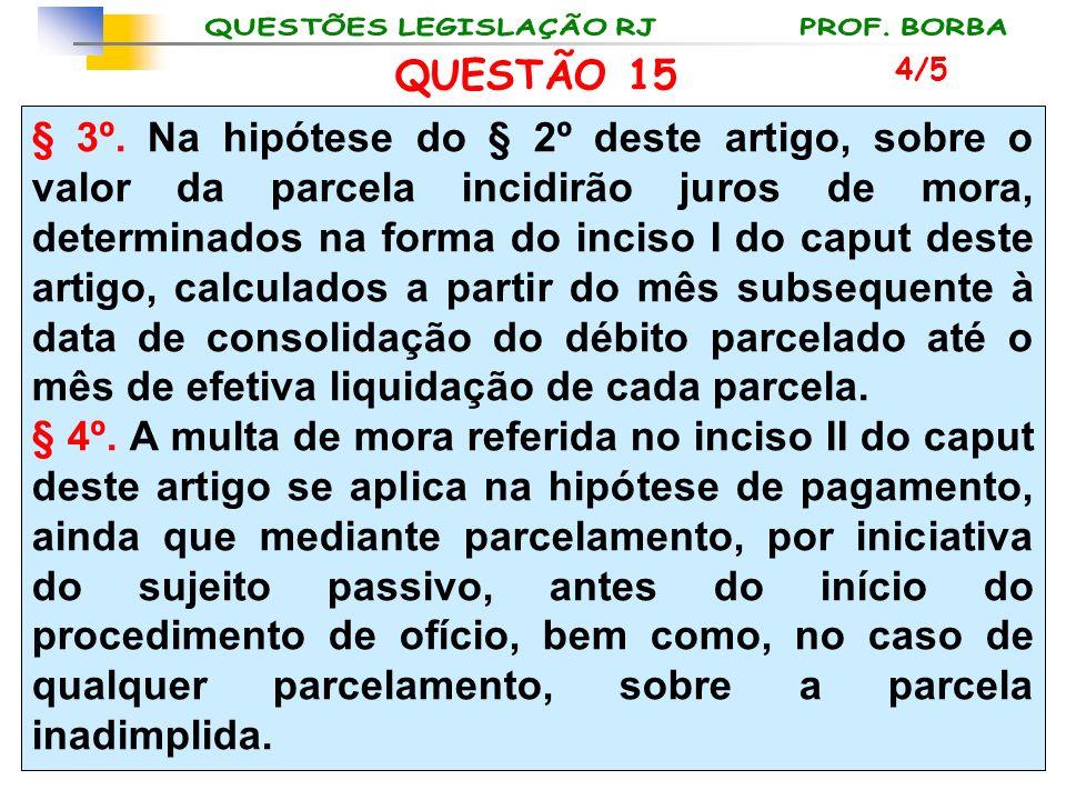 QUESTÃO 15 4/5.