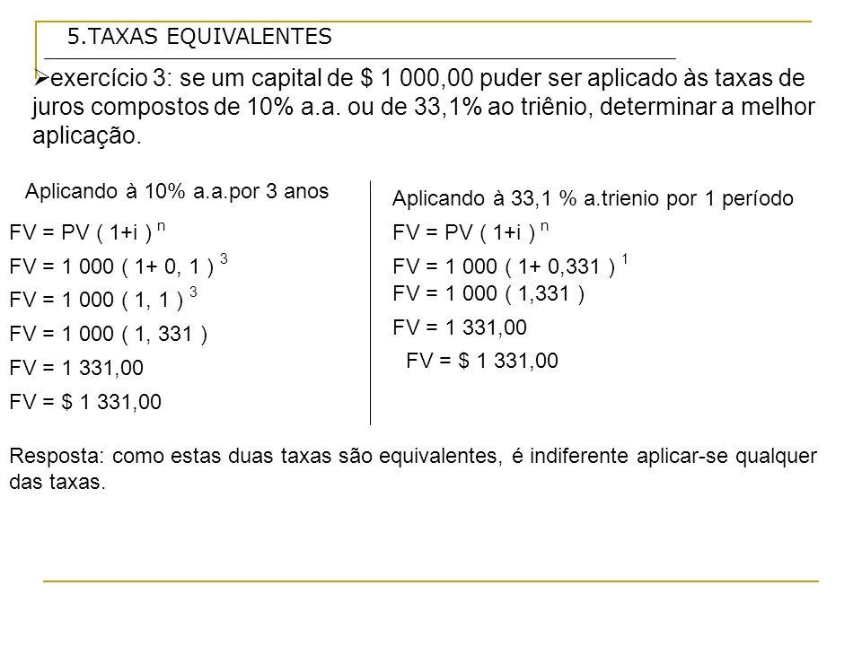 5.TAXAS EQUIVALENTES