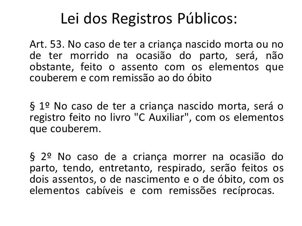 Lei dos Registros Públicos: